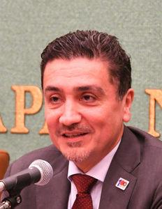 ラウル・フロレンティン=アントラ駐日パラグアイ大使、アンヘラ・アイリョン駐日ボリビア臨時代理大使 会見 写真 3