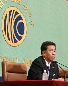 「野党に聞く」(2) 枝野幸男・立憲民主党代表 写真 3