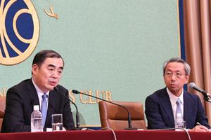 孔鉉佑・駐日中国大使 会見 写真 4