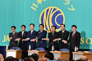 7党党首討論会 写真 1