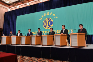 7党党首討論会 写真 2