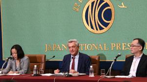 フィリッポ・グランディ国連難民高等弁務官 会見 写真 3