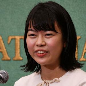 上野愛咲美・女流棋聖 会見 写真 1