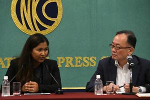 ウェイウェイ・ヌー・ミャンマー人権活動家 会見 写真 3