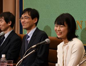 上野愛咲美・女流棋聖 会見 写真 4