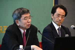 中尾武彦・アジア開発銀行(ADB)総裁 会見 写真 3
