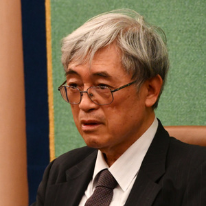 佐々木毅・東京大学名誉教授 会見 写真 2