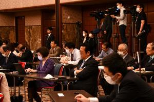 孔鉉佑・中国大使 会見 写真 5