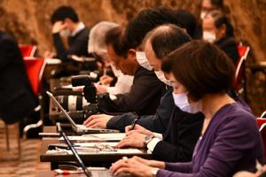 孔鉉佑・中国大使 会見 写真 4