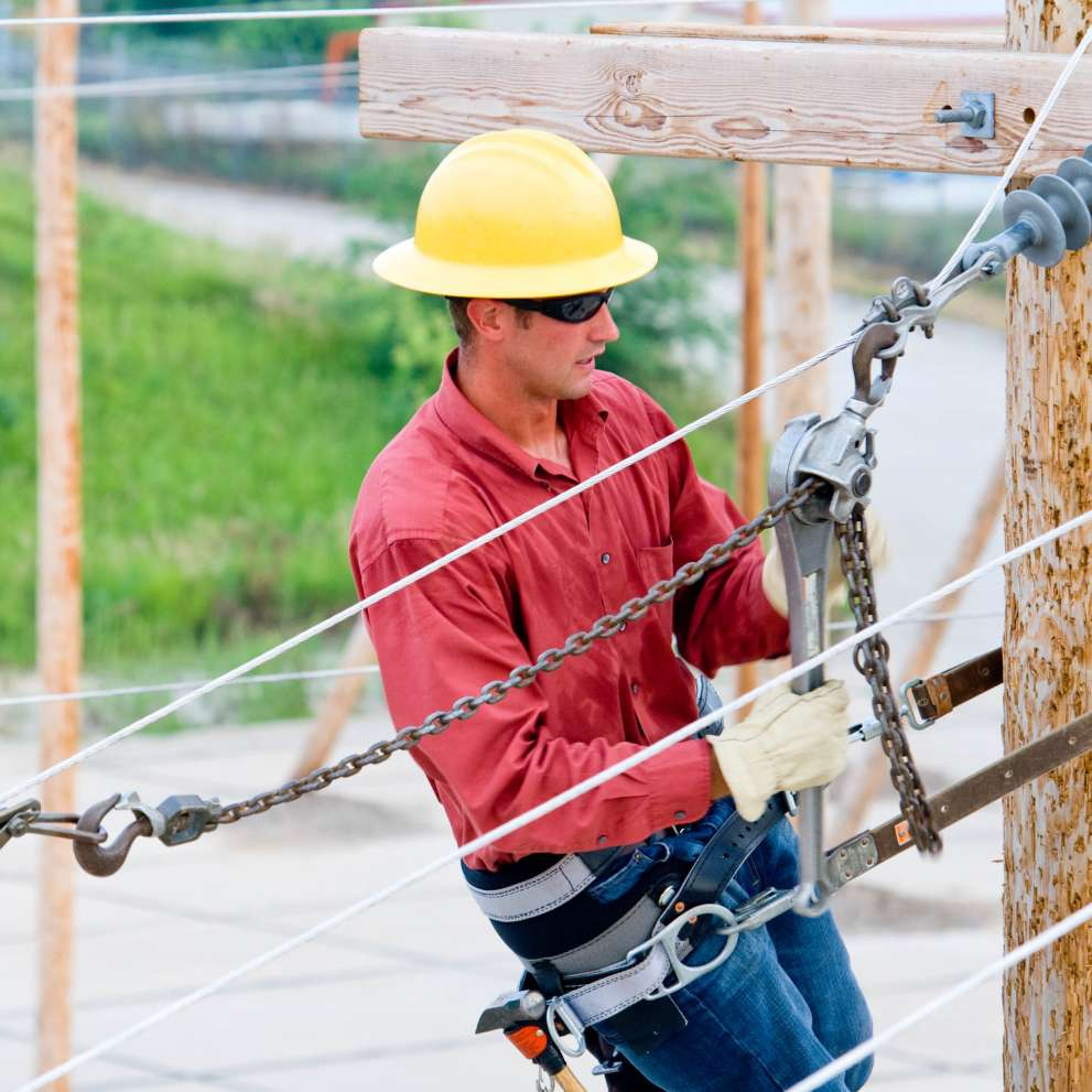 Advanced electrical job corps an advanced electrical technician works on power lines dailygadgetfo Gallery
