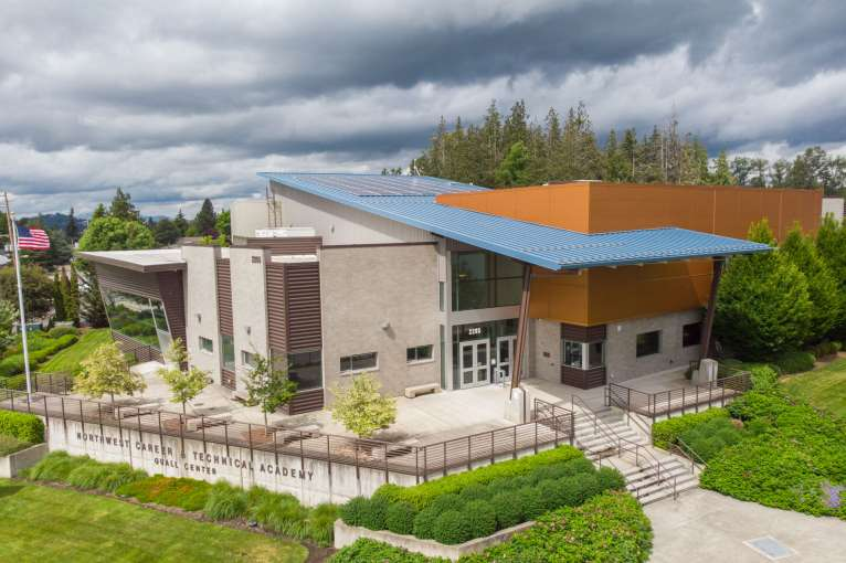 Aerial view of Cascades Job Corps Center campus