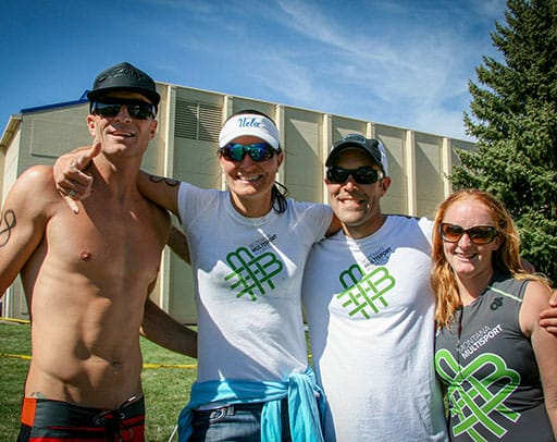 Montana multisport tees at the Montana State University triathlon