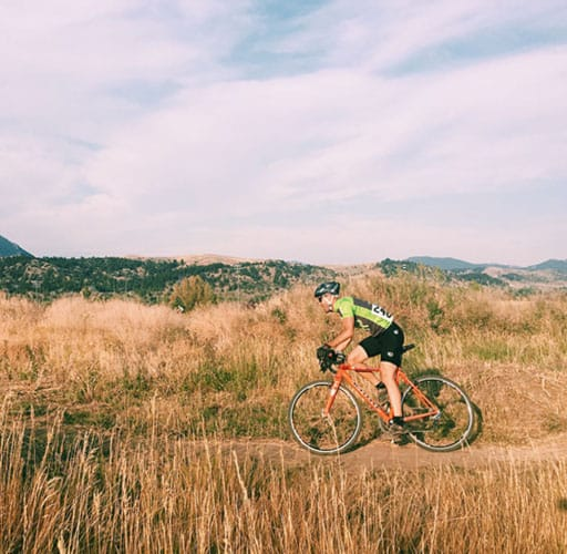 Montana Multisport cyclocross: Joe in a field