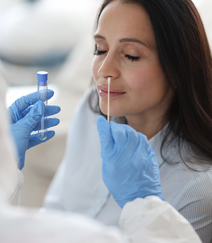 Prueba rápida de detección con antígenos