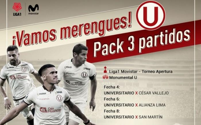 Universitario de Deportes | Combo x 3 partidos