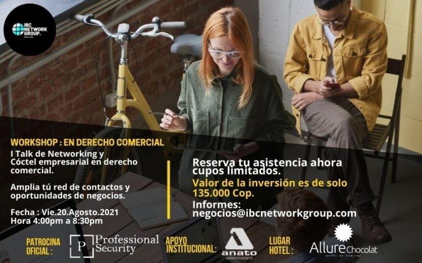 WORKSHOP PRESENCIAL  : EN DERECHO COMERCIAL PARA  START-UP