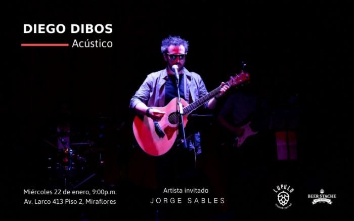 Diego Dibos Acústico en Lúpulo Bar