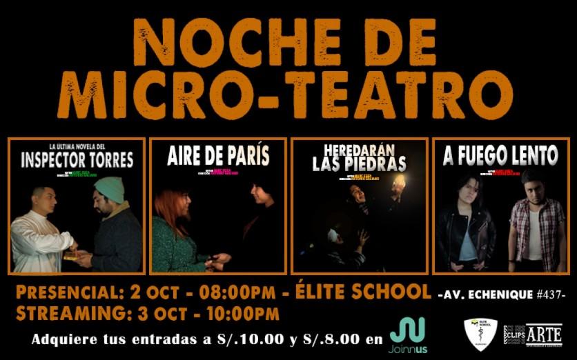 Micro-teatro en Huacho (Presencial y virtual)