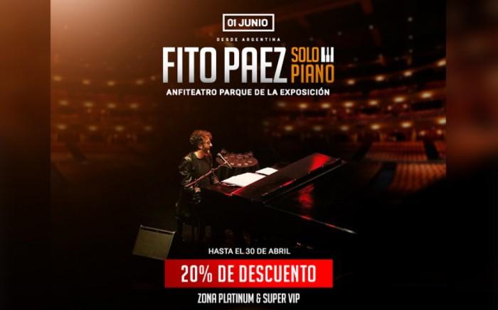 Fito Paez en Lima | Solo Piano /  / Joinnus