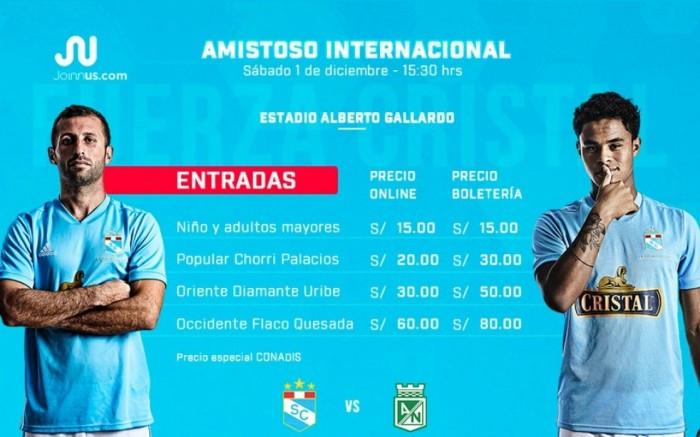 Club Sporting Cristal vs Club Atletico Nacional de Colombia