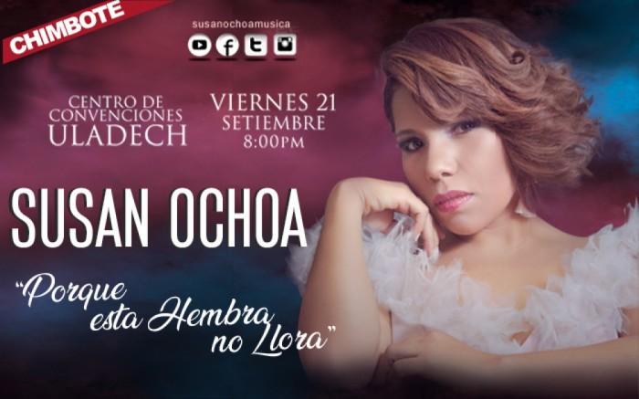 """Susan Ochoa """"Por que esta hembra no llora"""" en Chimbote"""