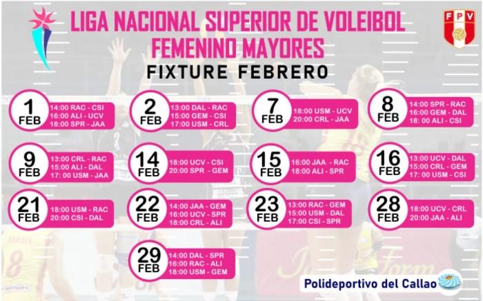 Liga Nacional Superior de Voleibol Femenino - Febrero 2020