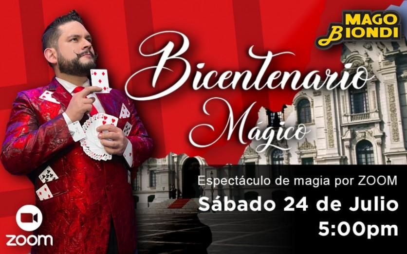 Show de fiesta patrias en vivo por ZOOM con el Mago Biondi