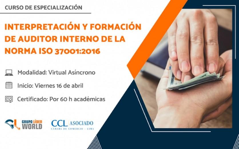 Curso: Interpretación y Auditor Interno ISO 37001:2016