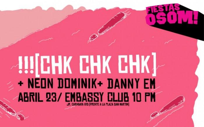 !!! (CHK CHK CHK) en vivo