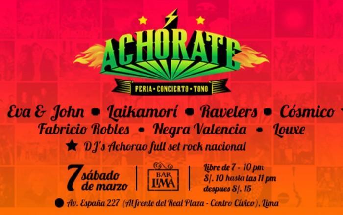 """""""ACHÓRATE"""": Feria-Concierto-Tono"""