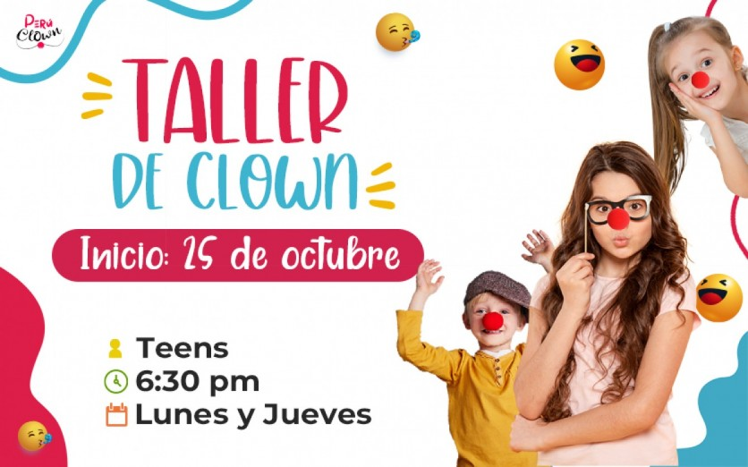 Taller Clown Teens de 10 a 14 años