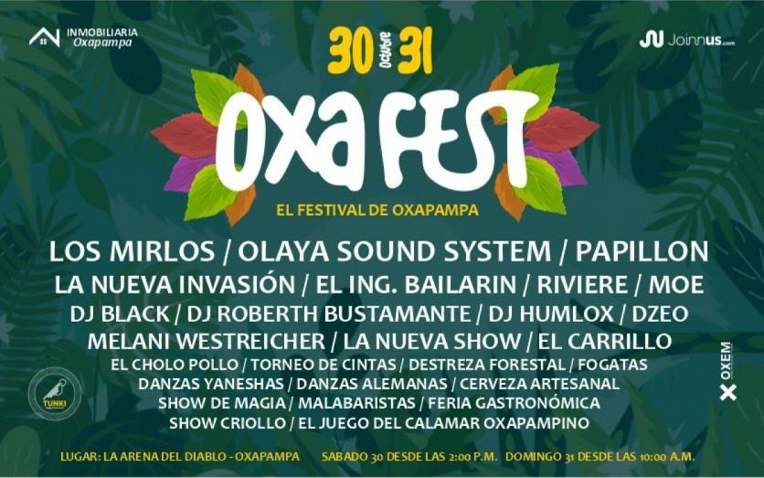 """OxaFest """"El Festival de Oxapampa"""""""