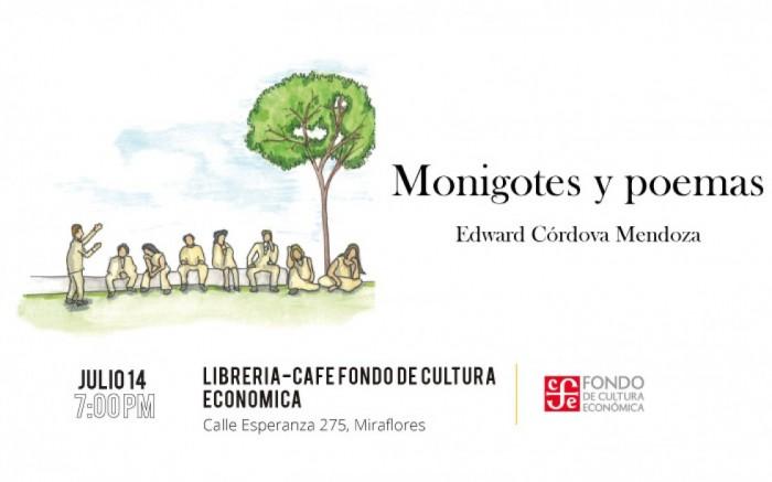 """Presentación libro: """"Monigotes y poemas"""" de Edward Córdova"""