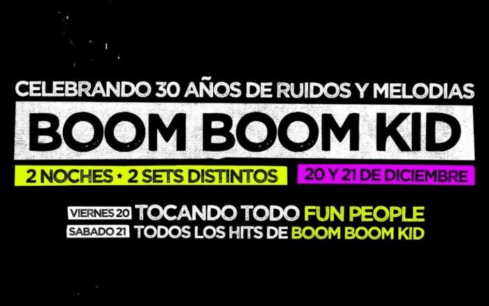 Boom Boom kid : Celebra 30 años en el ruido