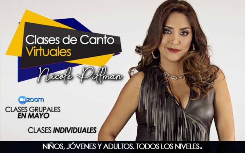 Clases de Canto VIRTUALES con Nicole Pillman