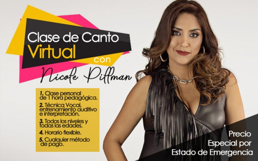 Clase de Canto Virtual con Nicole Pillman