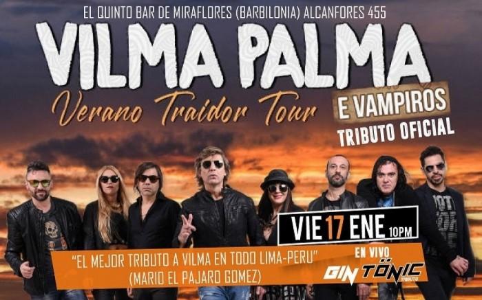 """VILMA PALMA """"Verano Traidor Tour-Tributo"""" (Gin Tonic)"""