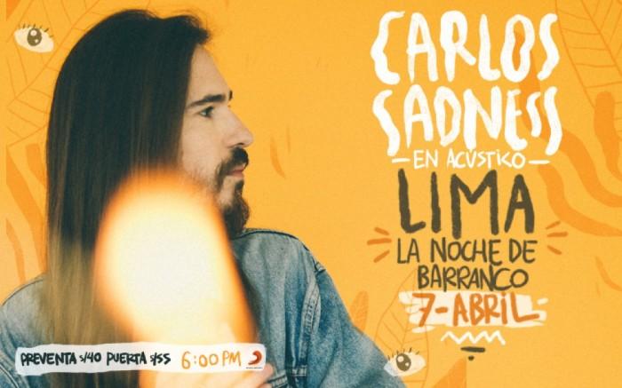 ¡Carlos Sadness en Acústico!   La Noche de Barranco /  / Joinnus