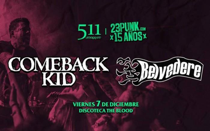 Comeback Kid + Belvedere en Lima  /  / Joinnus