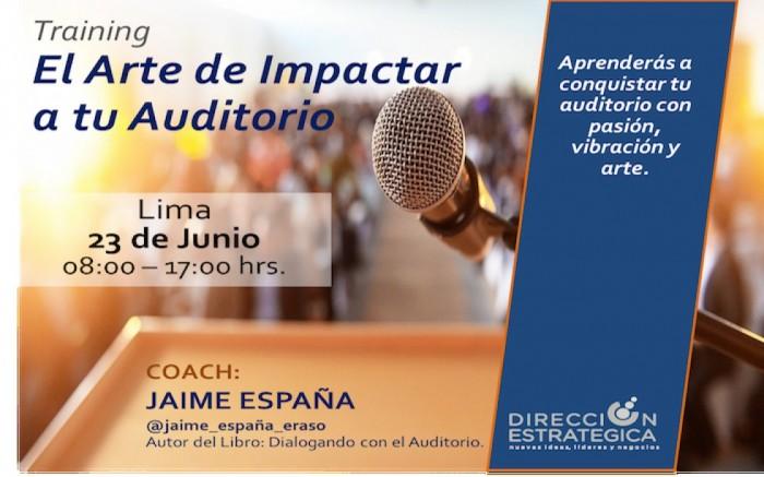 Taller: El Arte de Impactar a tu Auditorio /  / Joinnus