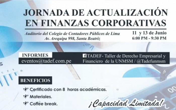 JORNADA DE ACTUALIZACIÓN EN FINANZAS CORPORATIVAS /  / Joinnus