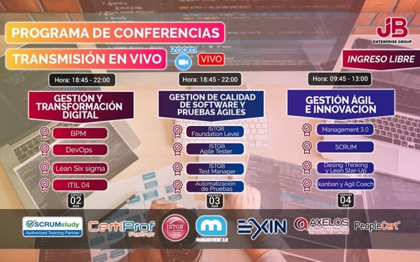 Conferencia: Gestión Ágil, Calidad SW,T. Digital, Innovación