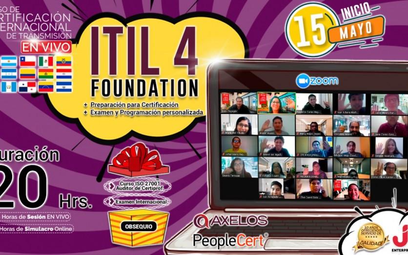 CURSO DE TRANSMISIÓN EN VIVO: ITIL4 FOUNDATION
