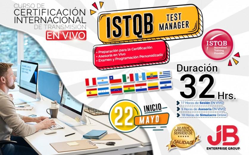 CURSO DE TRANSMISIÓN EN VIVO: ISTQB TEST MANAGER