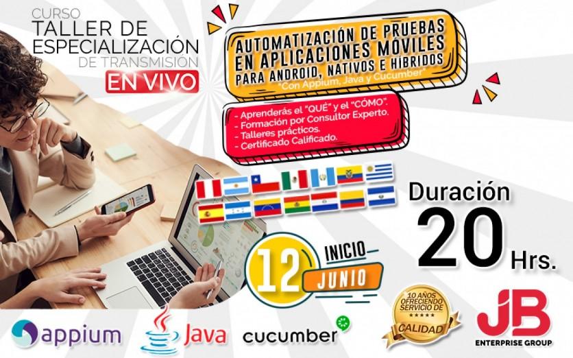 CURSO DE TRANSMISIÓN EN VIVO: Auto. de Aplicaciones Móviles