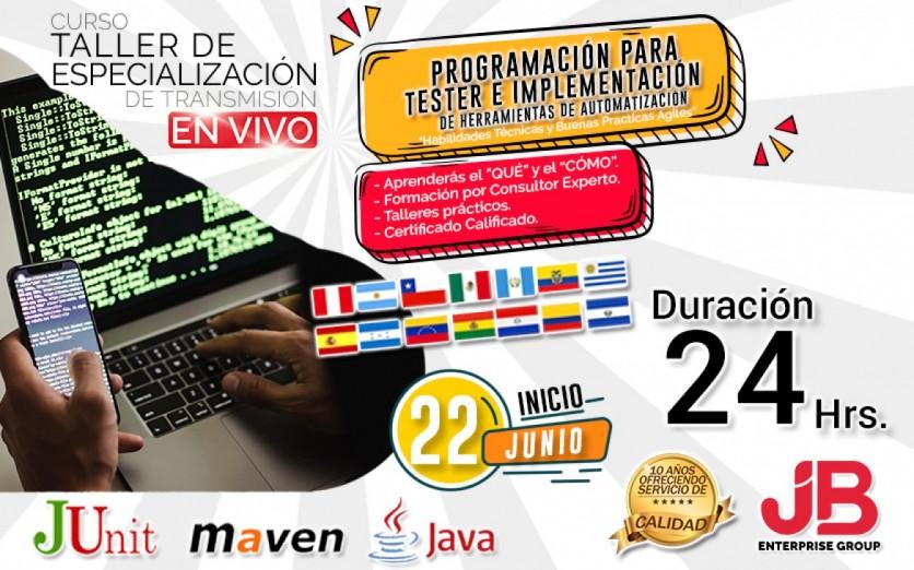 CURSO DE TRANSMISIÓN EN VIVO: Programacion para Testers