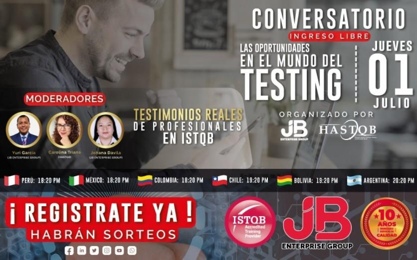 """CONVERSATORIO: """"LAS OPORTUNIDADE EN EL MUNDO DEL TESTING"""""""