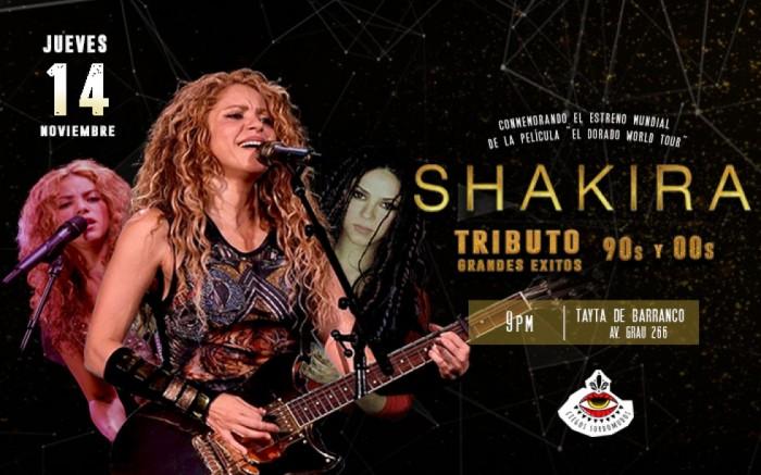 Tributo a Shakira ¡Grandes Éxitos de los 90s y 00s!