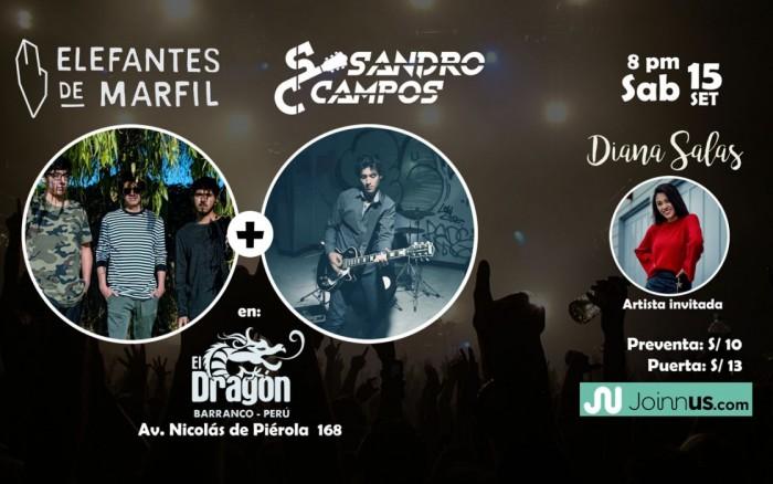 Elefantes de Marfil/ Sandro Campos/ Diana Salas en concierto /  / Joinnus