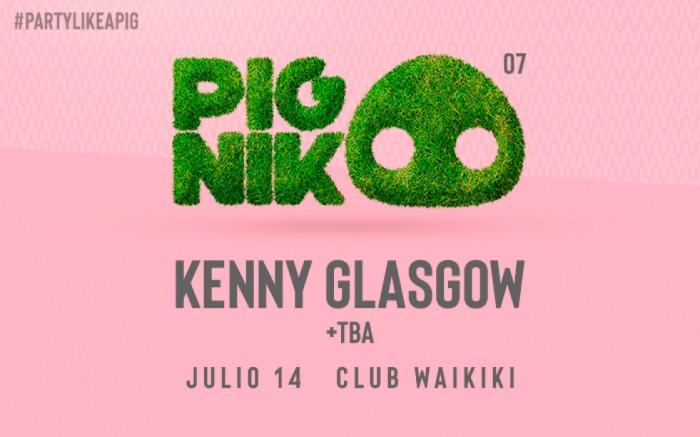 Pignik 007 presenta: Kenny Glasgow @Club Waikiki